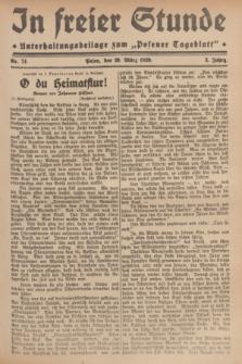 """In Freier Stunde : Unterhaltungsbeilage zum """"Posener Tageblatt"""". Jg.3, Nr. 74 (29 März 1929)"""