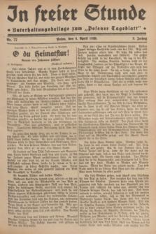"""In Freier Stunde : Unterhaltungsbeilage zum """"Posener Tageblatt"""". Jg.3, Nr. 77 (4 April 1929)"""