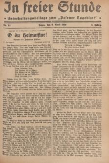 """In Freier Stunde : Unterhaltungsbeilage zum """"Posener Tageblatt"""". Jg.3, Nr. 81 (9 April 1929)"""