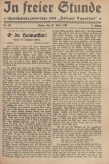 """In Freier Stunde : Unterhaltungsbeilage zum """"Posener Tageblatt"""". Jg.3, Nr. 82 (10 April 1929)"""