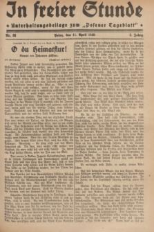 """In Freier Stunde : Unterhaltungsbeilage zum """"Posener Tageblatt"""". Jg.3, Nr. 83 (11 April 1929)"""