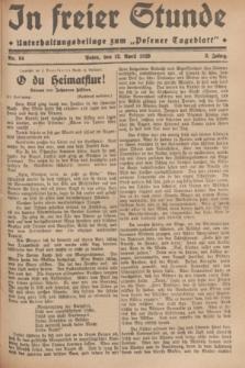 """In Freier Stunde : Unterhaltungsbeilage zum """"Posener Tageblatt"""". Jg.3, Nr. 84 (12 April 1929)"""