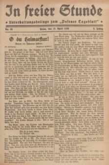 """In Freier Stunde : Unterhaltungsbeilage zum """"Posener Tageblatt"""". Jg.3, Nr. 85 (13 April 1929)"""