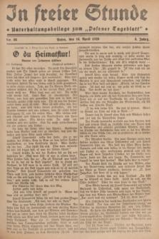 """In Freier Stunde : Unterhaltungsbeilage zum """"Posener Tageblatt"""". Jg.3, Nr. 86 (14 April 1929)"""