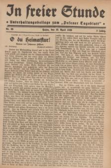 """In Freier Stunde : Unterhaltungsbeilage zum """"Posener Tageblatt"""". Jg.3, Nr. 89 (18 April 1929)"""
