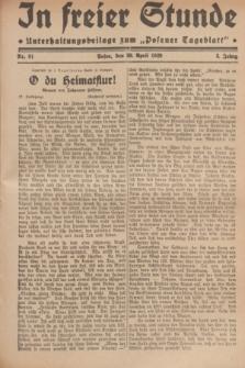 """In Freier Stunde : Unterhaltungsbeilage zum """"Posener Tageblatt"""". Jg.3, Nr. 91 (20 April 1929)"""
