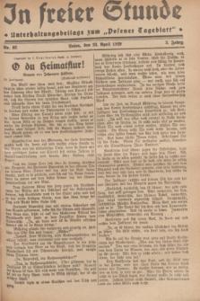 """In Freier Stunde : Unterhaltungsbeilage zum """"Posener Tageblatt"""". Jg.3, Nr. 93 (23 April 1929)"""