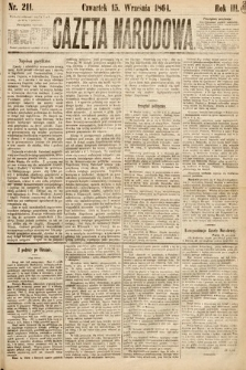 Gazeta Narodowa. 1864, nr211