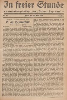 """In Freier Stunde : Unterhaltungsbeilage zum """"Posener Tageblatt"""". Jg.3, Nr. 94 (24 April 1929)"""