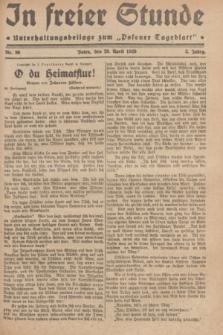 """In Freier Stunde : Unterhaltungsbeilage zum """"Posener Tageblatt"""". Jg.3, Nr. 96 (26 April 1929)"""