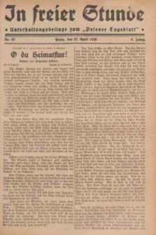 """In Freier Stunde : Unterhaltungsbeilage zum """"Posener Tageblatt"""". Jg.3, Nr. 97 (27 April 1929)"""