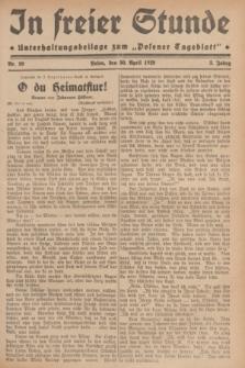 """In Freier Stunde : Unterhaltungsbeilage zum """"Posener Tageblatt"""". Jg.3, Nr. 99 (30 April 1929)"""