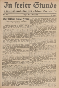 """In Freier Stunde : Unterhaltungsbeilage zum """"Posener Tageblatt"""". Jg.3, Nr. 104 (7 Mai 1929)"""