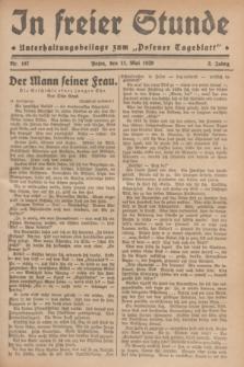 """In Freier Stunde : Unterhaltungsbeilage zum """"Posener Tageblatt"""". Jg.3, Nr. 107 (11 Mai 1929)"""