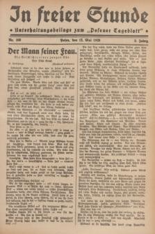 """In Freier Stunde : Unterhaltungsbeilage zum """"Posener Tageblatt"""". Jg.3, Nr. 108 (12 Mai 1929)"""