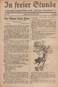 """In Freier Stunde : Unterhaltungsbeilage zum """"Posener Tageblatt"""". Jg.3, Nr. 110 (15 Mai 1929)"""