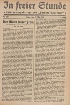 """In Freier Stunde : Unterhaltungsbeilage zum """"Posener Tageblatt"""". Jg.3, Nr. 112 (17 Mai 1929)"""