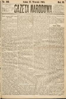 Gazeta Narodowa. 1864, nr213