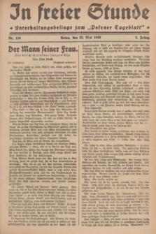"""In Freier Stunde : Unterhaltungsbeilage zum """"Posener Tageblatt"""". Jg.3, Nr. 116 (23 Mai 1929)"""