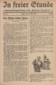 """In Freier Stunde : Unterhaltungsbeilage zum """"Posener Tageblatt"""". Jg.3, Nr. 119 (26 Mai 1929)"""