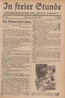 """In Freier Stunde : Unterhaltungsbeilage zum """"Posener Tageblatt"""". Jg.3, Nr. 121 (29 Mai 1929)"""