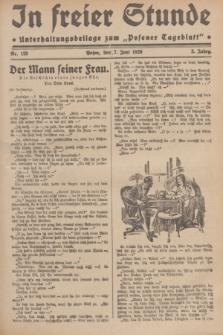 """In Freier Stunde : Unterhaltungsbeilage zum """"Posener Tageblatt"""". Jg.3, Nr. 128 (7 Juni 1929)"""
