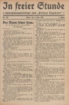 """In Freier Stunde : Unterhaltungsbeilage zum """"Posener Tageblatt"""". Jg.3, Nr. 129 (8 Juni 1929)"""