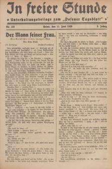 """In Freier Stunde : Unterhaltungsbeilage zum """"Posener Tageblatt"""". Jg.3, Nr. 131 (11 Juni 1929)"""