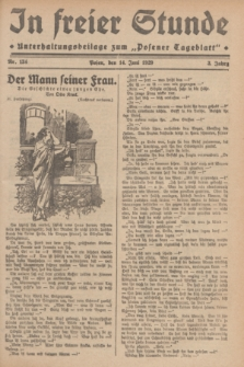 """In Freier Stunde : Unterhaltungsbeilage zum """"Posener Tageblatt"""". Jg.3, Nr. 134 (14 Juni 1929)"""