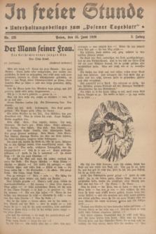 """In Freier Stunde : Unterhaltungsbeilage zum """"Posener Tageblatt"""". Jg.3, Nr. 135 (15 Juni 1929)"""