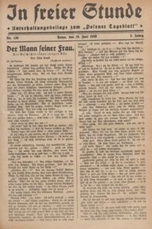 """In Freier Stunde : Unterhaltungsbeilage zum """"Posener Tageblatt"""". Jg.3, Nr. 136 (16 Juni 1929)"""