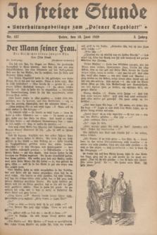"""In Freier Stunde : Unterhaltungsbeilage zum """"Posener Tageblatt"""". Jg.3, Nr. 137 (18 Juni 1929)"""