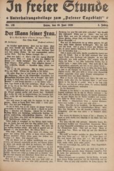 """In Freier Stunde : Unterhaltungsbeilage zum """"Posener Tageblatt"""". Jg.3, Nr. 138 (19 Juni 1929)"""