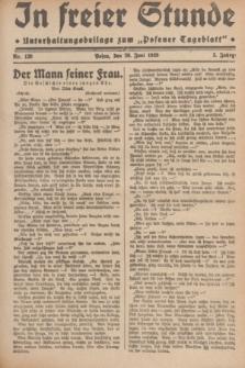 """In Freier Stunde : Unterhaltungsbeilage zum """"Posener Tageblatt"""". Jg.3, Nr. 139 (20 Juni 1929)"""