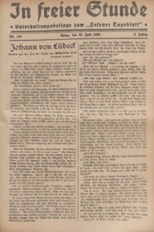 """In Freier Stunde : Unterhaltungsbeilage zum """"Posener Tageblatt"""". Jg.3, Nr. 140 (21 Juli 1929)"""