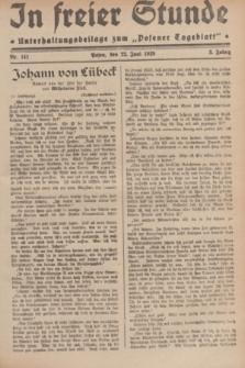 """In Freier Stunde : Unterhaltungsbeilage zum """"Posener Tageblatt"""". Jg.3, nr 141 (22 Juni 1929)"""