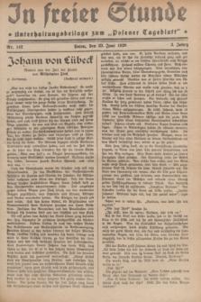 """In Freier Stunde : Unterhaltungsbeilage zum """"Posener Tageblatt"""". Jg.3, Nr. 142 (23 Juni 1929)"""