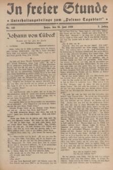 """In Freier Stunde : Unterhaltungsbeilage zum """"Posener Tageblatt"""". Jg.3, Nr. 143 (25 Juni 1929)"""