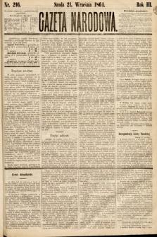 Gazeta Narodowa. 1864, nr216