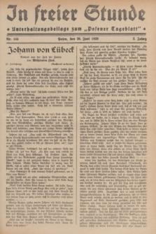 """In Freier Stunde : Unterhaltungsbeilage zum """"Posener Tageblatt"""". Jg.3, Nr. 144 (26 Juni 1929)"""