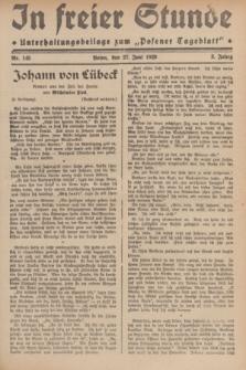 """In Freier Stunde : Unterhaltungsbeilage zum """"Posener Tageblatt"""". Jg.3, Nr. 145 (27 Juni 1929)"""