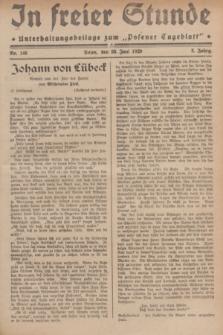 """In Freier Stunde : Unterhaltungsbeilage zum """"Posener Tageblatt"""". Jg.3, Nr. 146 (28 Juni 1929)"""