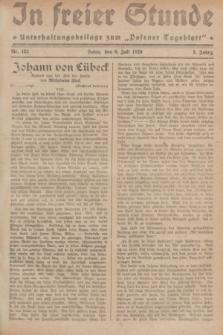 """In Freier Stunde : Unterhaltungsbeilage zum """"Posener Tageblatt"""". Jg.3, Nr. 152 (6 Juli 1929)"""
