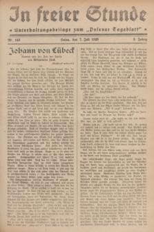 """In Freier Stunde : Unterhaltungsbeilage zum """"Posener Tageblatt"""". Jg.3, Nr. 153 (7 Juli 1929)"""