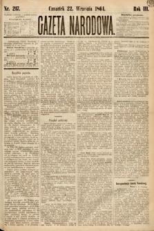 Gazeta Narodowa. 1864, nr217