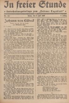 """In Freier Stunde : Unterhaltungsbeilage zum """"Posener Tageblatt"""". Jg.3, Nr. 154 (9 Juli 1929)"""
