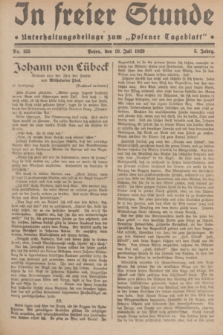 """In Freier Stunde : Unterhaltungsbeilage zum """"Posener Tageblatt"""". Jg.3, Nr. 155 (10 Juli 1929)"""