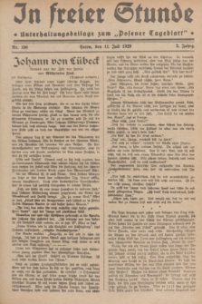 """In Freier Stunde : Unterhaltungsbeilage zum """"Posener Tageblatt"""". Jg.3, Nr. 156 (11 Juli 1929)"""
