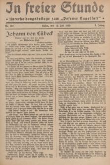 """In Freier Stunde : Unterhaltungsbeilage zum """"Posener Tageblatt"""". Jg.3, Nr. 157 (12 Juli 1929)"""