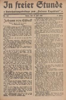 """In Freier Stunde : Unterhaltungsbeilage zum """"Posener Tageblatt"""". Jg.3, Nr. 158 (13 Juli 1929)"""